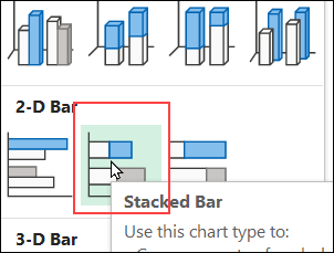 insert stacked bar command