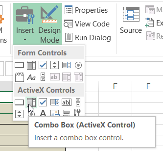 Combo Box on ActiveX Controls