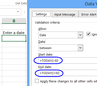 restrict date range based on current date
