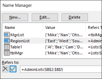 change refers to address in name manager