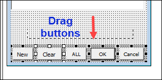 drag buttons down