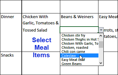 select meals