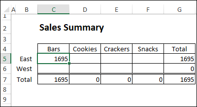 SUMIFS formula with table references