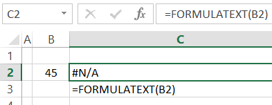 FORMULATEXT function
