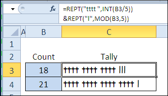 quick tally with REPT