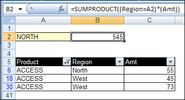 Subtotal and Sumproduct with Filter.