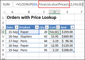 vlookup formula with no file path