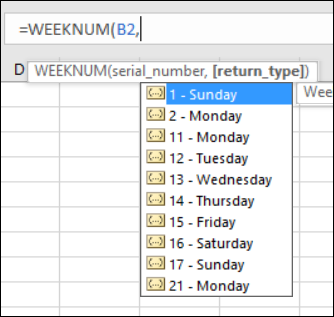week number return types