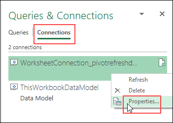 warning message data model properties