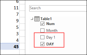 two copies of field in pivottablefield list
