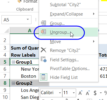 ungroup all groups