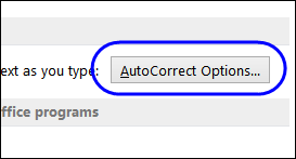 AutoFormat As You Type options