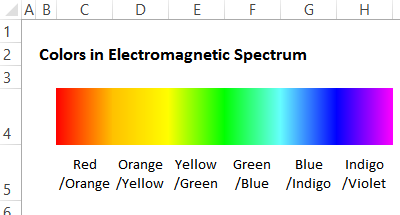 fill effects gradient for color spectrum