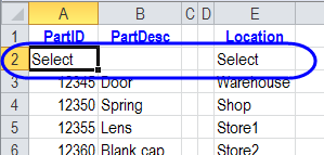 Select item in list
